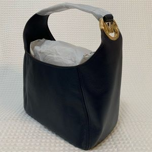 Michael Kors large hobo pebbled leather tote Navy